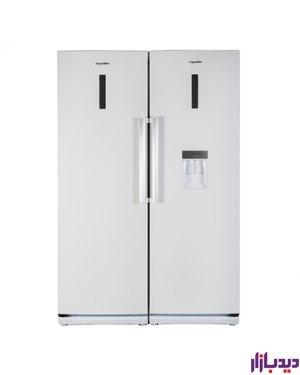 یخچال فریزر دوقلو دیپوینت مدل D4i-سفید چرم