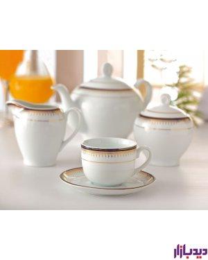 سرویس چایخوری 12 پارچه چینی زرین ایران سری ایتالیا اف مدل خاطره ( Khatere ) درجه عالی