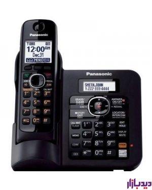 گوشی تلفن بی سیم پاناسونیک مدل KX-TG3821BX،تلفن،قیمت تلفن،تلفن پاناسونیک،قیمت تلفن پاناسونیک،تلفن بی سیم پاناسونیک،قیمت تلفن بی سیم پاناسونیک