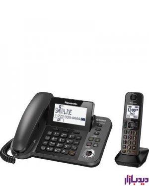 گوشی تلفن ثابت و بی سیم پاناسونیک مدل Telephone KX-TGF380،تلفن،قیمت تلفن،تلفن پاناسونیک،قیمت تلفن پاناسونیک،تلفن بی سیم پاناسونیک،قیمت تلفن بی سیم پاناسونیک