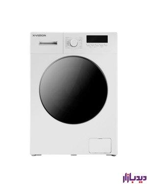 ماشین لباسشویی اتوماتیک ایکس ویژن مدل TE84-AW/AS ظرفیت 8 کیلوگرم
