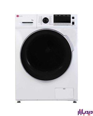 ماشین لباسشویی کرال مدل TFW 49414 ST سیلور ظرفیت 9 کیلویی
